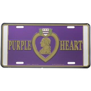 Purple Heart Logo License Plate