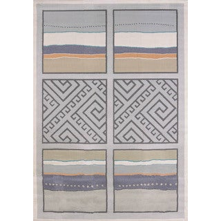 "Tranquility Sea Squares Area Rug (7'10"" x 10'6"")"