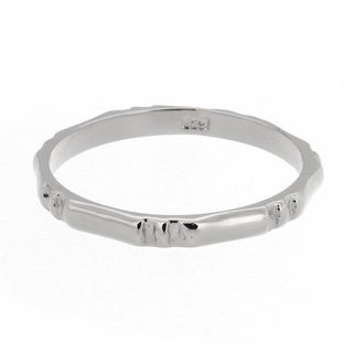 Sterling Essentials Silver Bamboo Midi Ring