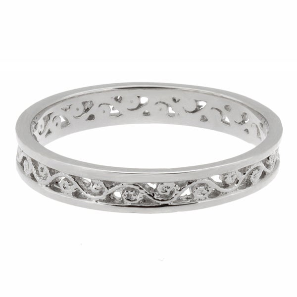 Sterling Essentials Silver Filigree Midi Ring
