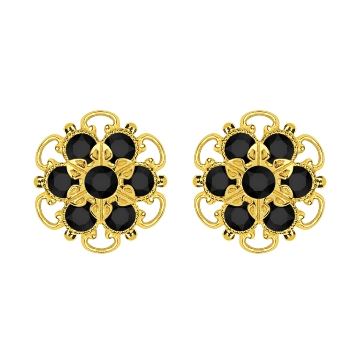 kern dyrbergkern black earrings noble in com dyrberg luluwinter gold stud crystal