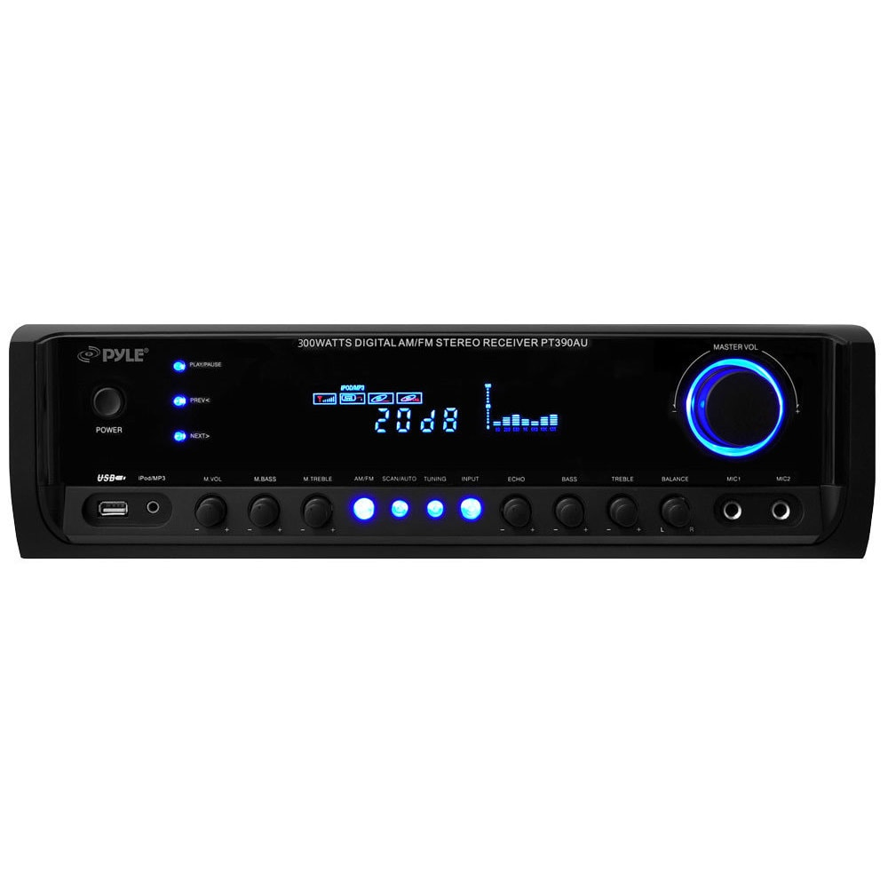 Pyle PT390AU 300W Digital Stereo Receiver System with USB...
