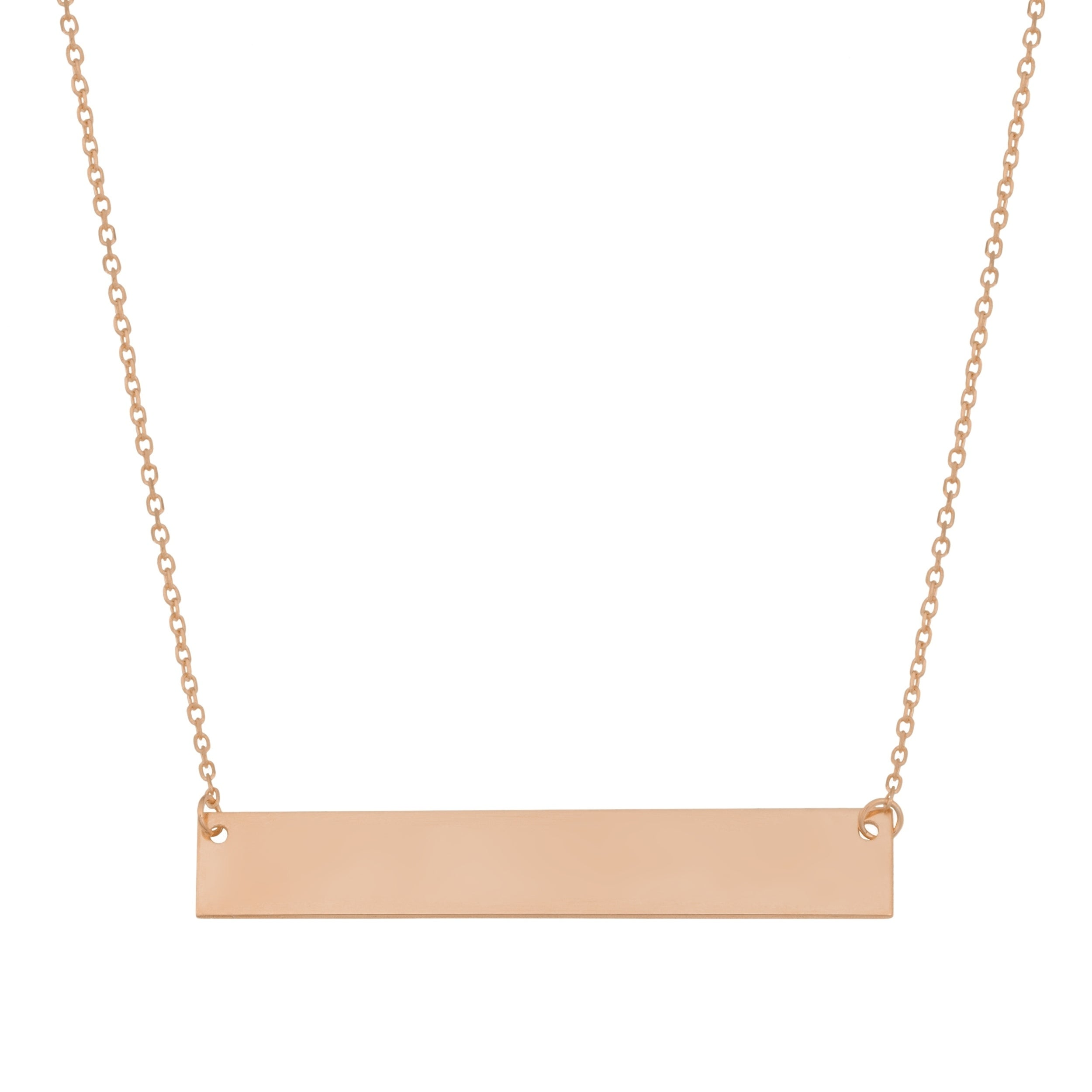 Personalized Necklace Custom Necklace chain 18 inch Horizontal Bar Necklace