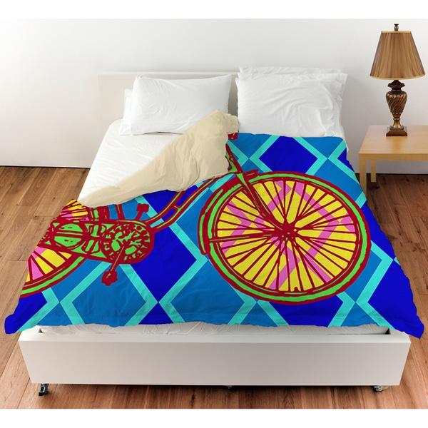 Neon Party Bike Duvet Cover