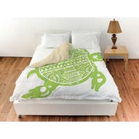 Honu Turtle Green Duvet Cover