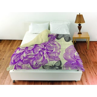 Butterflies and Peony Duvet Cover