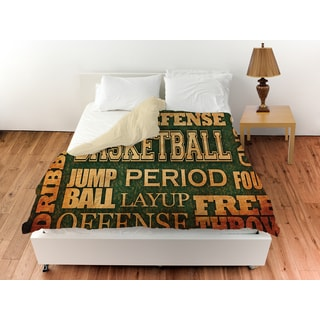 Thumbprintz Basketball Words Duvet Cover