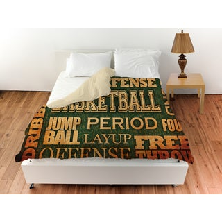 Basketball Words Duvet Cover