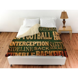 Football Words Duvet Cover