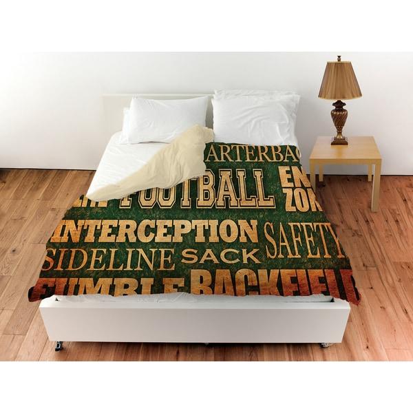 Football Words Duvet Cover