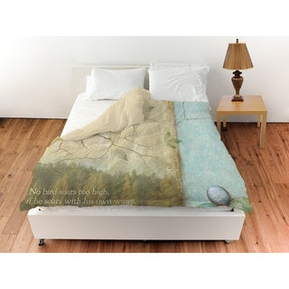 Bird Quote Sparrow Duvet Cover