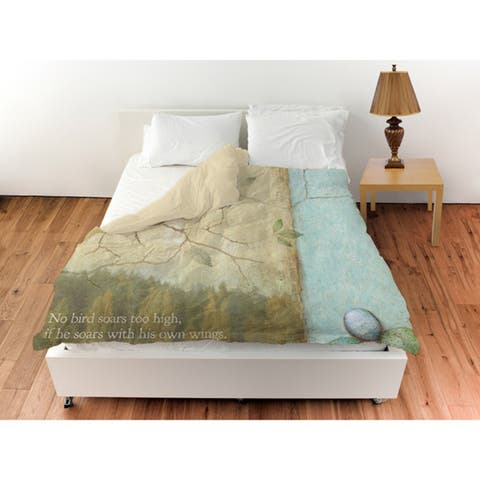 The Gray Barn Ivy Hollow Bird Quote Sparrow Duvet Cover