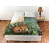 Conifer Lodge Fox Duvet Cover