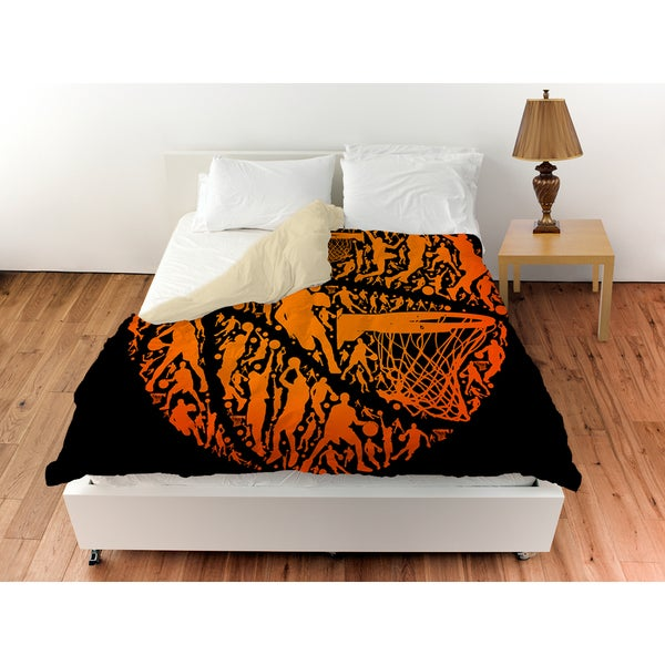 Basketball Sports Silhouettes Duvet Cover
