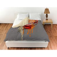 Basketball Words in Hoop Duvet Cover