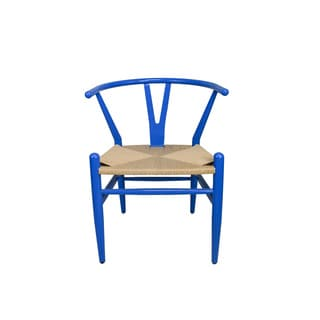 Wishbone Blue Steel Side Chair (China)