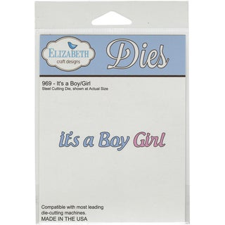 Elizabeth Craft Metal DieIt's A Boy/Girl