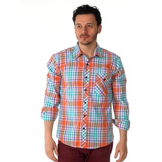 Something Strong Men's 'Something Correct' Multi Color Plaid Shirt