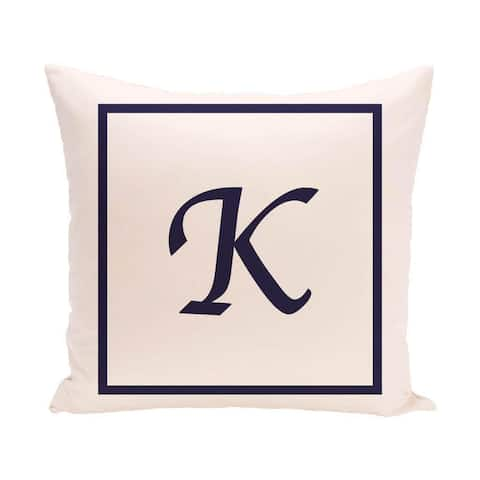 16 x 16-inch Monogram Print Decorative Pillow