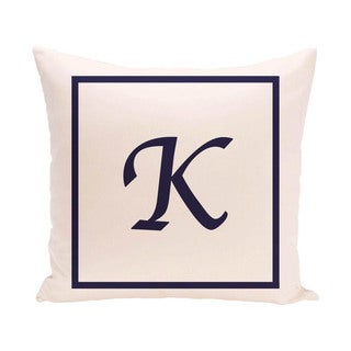 16 x 16-inch Monogram Print Decorative Pillow