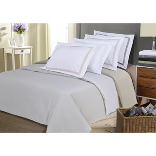 Superior Microfiber Wrinkle Resistant Embroidered Peaks Duvet Cover Set