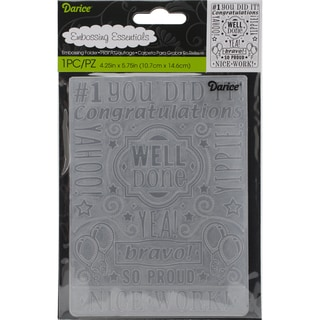 Embossing Folder 4.25inX5.75inCongrats Collage