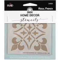 FolkArt Home Decor Stencil 4inx4inRegal French