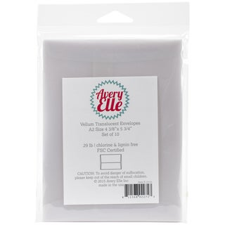 Vellum A2 Envelopes 10/Pkg