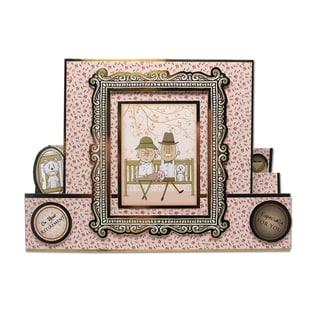 Luxury Silk Art Shaped 350gsm Cards W/Envelopes A5 5/PkgWhite Center Stepper