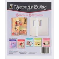 Hot Off The Press DieCut Cards W/Envelopes 5/PkgRectangle Swing