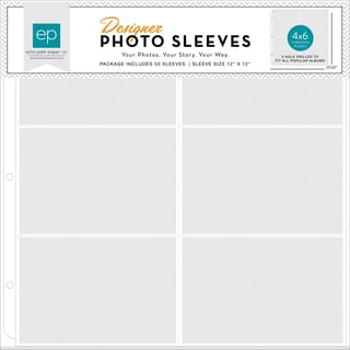 Photo Freedom Photo Sleeves Protectors 12inX12in 50/Pkg(6) 4inX6in Horizontal Pockets