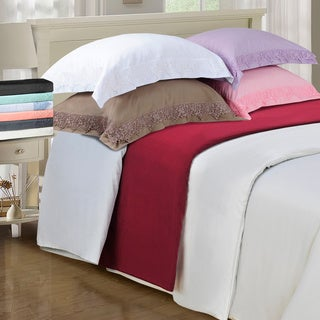Superior Wrinkle Resistant Embroidered Microfiber Duvet Cover Set (More options available)