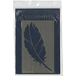 Dreamweaver Metal Stencil 5inX7.875inFeather