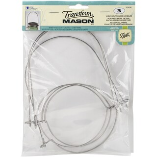 TransformMason Wide Mouth Wire Handles 3/Pkg