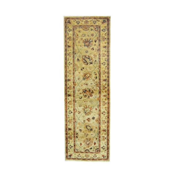 Handmade Oushak Wool Runner (Afghanistan) - 2'10 x 8'11