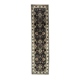 Herat Oriental Indo Hand-knotted Mahal Wool Runner (2'6 x 10'1)
