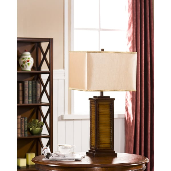 Table Lamp Brown Finish