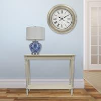 Maison Rouge Lorris Antique Silver 24-inch Wall Clock