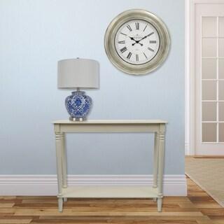 Café de Rouge Antique Silver 24-inch Wall Clock