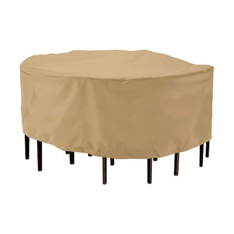 Classic Accessories Terrazzo Round Patio Table and Chair Set Cover