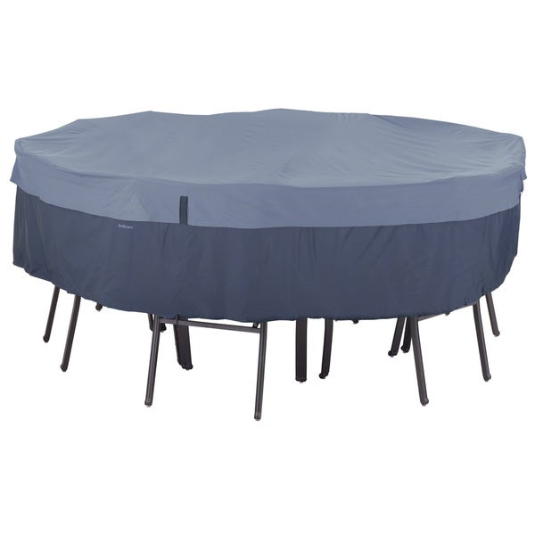 accessories belltown round patio table and patio chair set cover blue