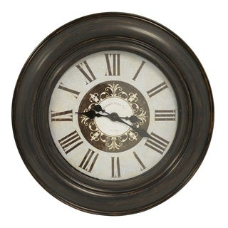 Distressed Ornate Blue 30-inch Wall Clock