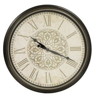 Distressed Baroque 30-inch Wall Clock