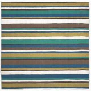 Multi Stripe Outdoor Rug (8' Square)
