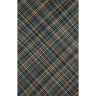Plaid Outdoor Rug (3'6 x 5'6)