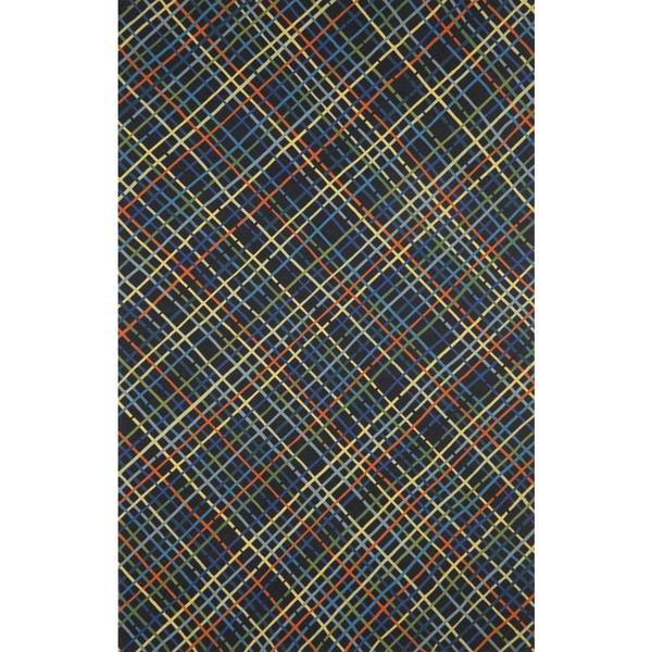 Liora Manne Plaid Outdoor Rug (3'6 x 5'6) - 3'6 x 5'6