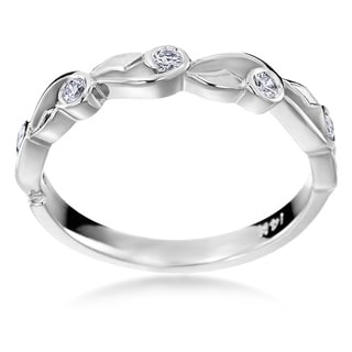 SummerRose 14k White Gold 1/6ct TDW Diamond Fashion Band