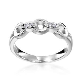 SummerRose 14k White Gold Diamond Accent Chain Fashion Ring