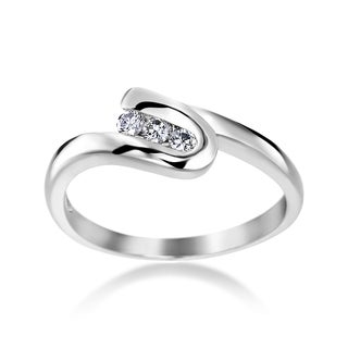 SummerRose 14k White Gold 1/6ct Diamond Ring
