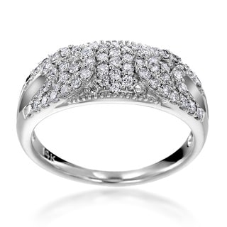 SummerRose 14k White Gold 1/2ct TDW Diamond Fashion Ring